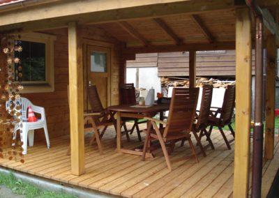 Chalet de 5m par 8m avec terrasse