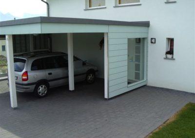 Couvert à toit plat façade max exterior