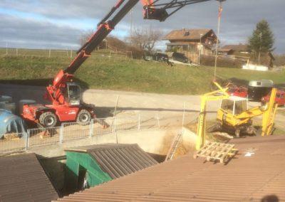 Levage et dépose sur toiture